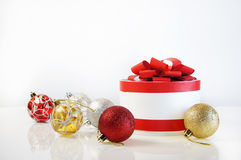 Template for Christmas card. On white background Stock Photography