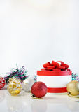 Template for Christmas card. On white background Royalty Free Stock Image