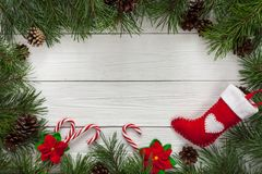 Template for christmas card Stock Photography