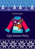 Ugly Sweater Party. vector illustration