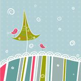 Template christmas greeting card. Illustration Stock Images