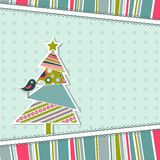 Template christmas greeting card. Illustration Royalty Free Stock Photo