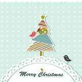 Template christmas greeting card. Illustration Royalty Free Stock Photography