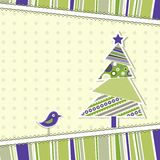 Template christmas greeting card Stock Photo