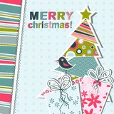 Template christmas greeting card Stock Image