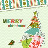 Template christmas greeting card Stock Photos