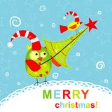 Template christmas greeting card Royalty Free Stock Photos