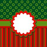 Template christmas greeting card Royalty Free Stock Images