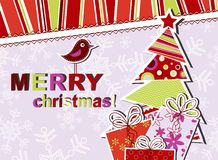 Template christmas greeting card. Illustration Stock Photo