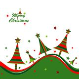 Template christmas greeting card. Illustration Stock Photos