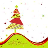 Template christmas greeting card. Illustration Royalty Free Stock Images