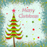Template christmas greeting card Royalty Free Stock Photography