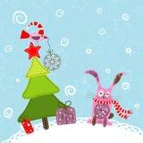 Template christmas greeting card Stock Photos
