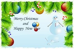 Template Christmas greeting card Royalty Free Stock Image