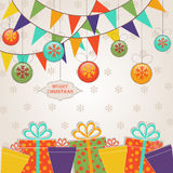Template Christmas greeting card Royalty Free Stock Photo