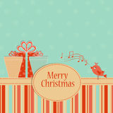 Template Christmas greeting card Stock Photography