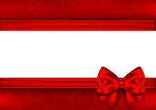 Template for Christmas greeting card. Border red tape. Illustration Stock Images