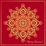 Template Christmas greeting card design decorated with shiny golden star Royalty Free Stock Photo