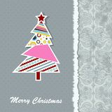 Template Christmas greeting card,. Illustration Stock Image