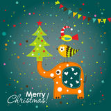 Template Christmas greeting card,   Stock Image