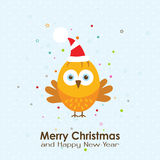 Template Christmas greeting card with a rooster, vector Royalty Free Stock Photography