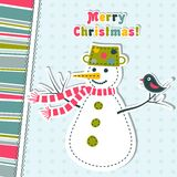 Template christmas greeting card, vector Stock Image