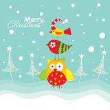 Template christmas greeting card, vector Royalty Free Stock Photos