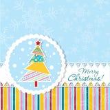 Template Christmas greeting card, vector Stock Image