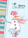 Template Christmas greeting card, vector Stock Photography