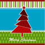 Template Christmas greeting card, vector. Illustration Stock Photos