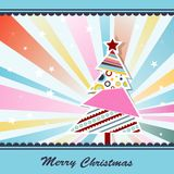 Template Christmas greeting card, vector. Illustration Royalty Free Stock Photography