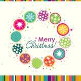 Template Christmas greeting card, vector Royalty Free Stock Photos