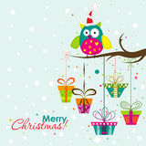 Template Christmas greeting card, vector. Illustration Stock Image
