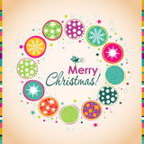 Template Christmas greeting card, vector vector illustration