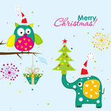 Template Christmas greeting card,  vector Stock Images