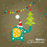 Template Christmas greeting card,  vector Royalty Free Stock Image