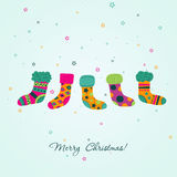 Template Christmas greeting card, vector Stock Photo