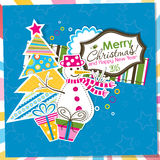 Template Christmas greeting card, vector Royalty Free Stock Photo