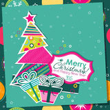 Template Christmas greeting card, vector Stock Photo