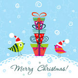 Template Christmas greeting card, vector Stock Photos