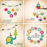 Template Christmas greeting card, vector illustration Stock Images