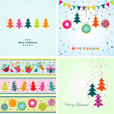 Template Christmas greeting card, vector illustration Royalty Free Stock Images