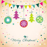 Template Christmas greeting card, vector Royalty Free Stock Images