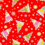 Template Christmas seamless pattern, vector Stock Images