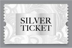 Silver ticket vector illustration stock illustration