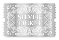 Silver ticket vector illustration royalty free illustration