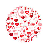 Template Circle Valentine's day Royalty Free Stock Photos
