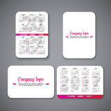Template clean design pocket calendar 2017 with place for the company logo. Vector illustration. Vertical and horizontal pocket calendar page royalty free illustration