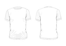 Template clothes Royalty Free Stock Photography