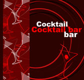 Template of a cocktail bar Royalty Free Stock Photo